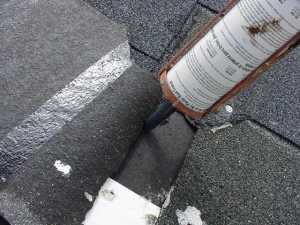 Apply roof cement