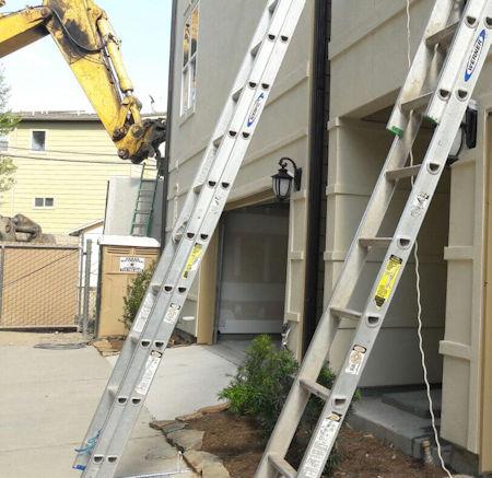 fixing the right garage door