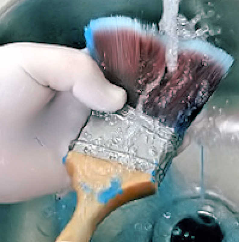 Cleaning Up After a Big Paint Job? Here's How to Clean Your Paint Brush the Right Way!