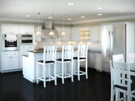 L-shape kitchen
